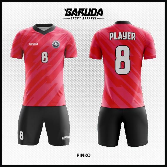 Desain Kostum Bola Code Pinko Warna Pink Yang Menawan