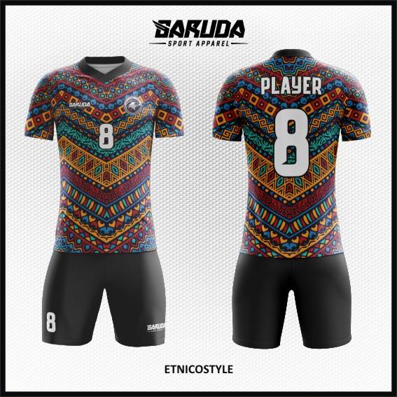 33 Desain Kostum Bola Futsal Etnicostyle Ornamen Batik