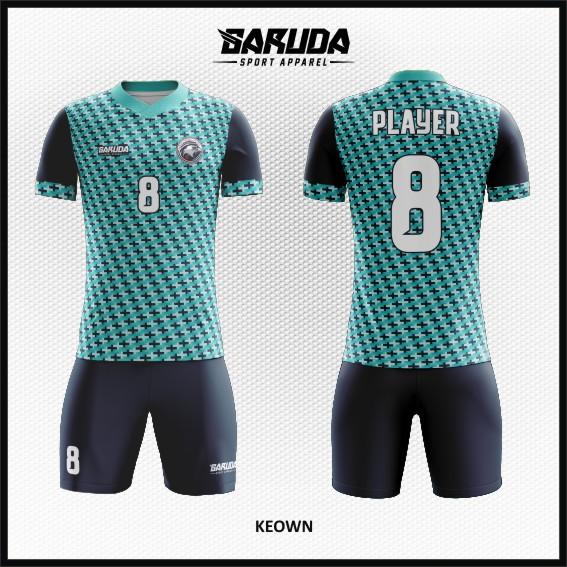 Desain Kostum Sepakbola dan Futsal Keown Motif Beda