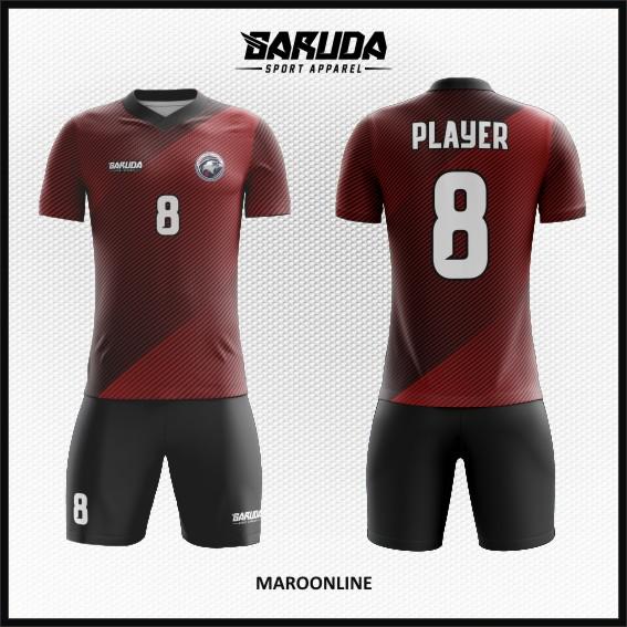 6 Desain Baju Futsal Code Maroonline Warna Marun