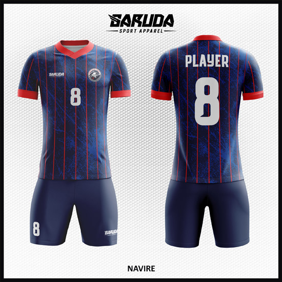 desain jersey futsal printing code NAVIRE BIRU NAVY DONGKER