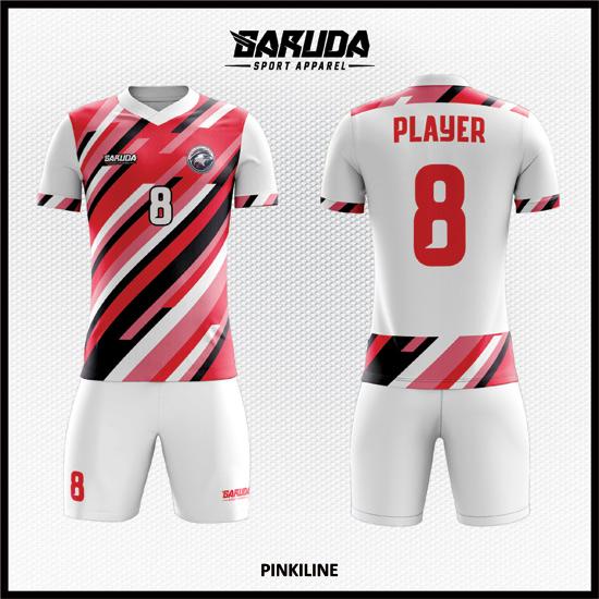 desain jersey bola futsal printing code PINKILINE warna pink