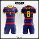 Desain Kaos Futsal Full Print Code Azulro Biru Merah Yang Memukau