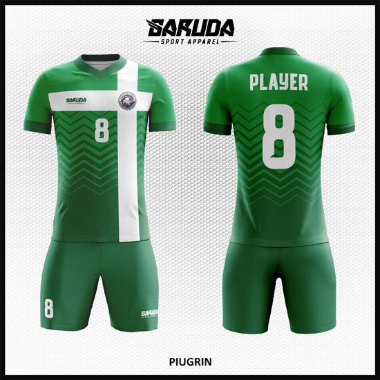 desain jersey bola futsal printing code PIUGRIN warna hijau