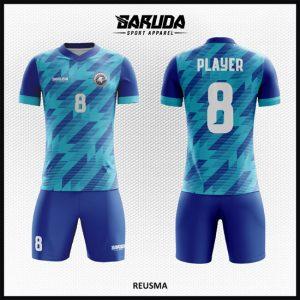 Desain Kostum Futsal Printing Code Reusma Tampil Lebih Eksklusif Warna Biru