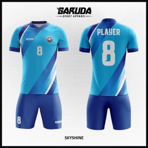 Si Biru Desain Kostum Bola Futsal Printing Code Skyshine