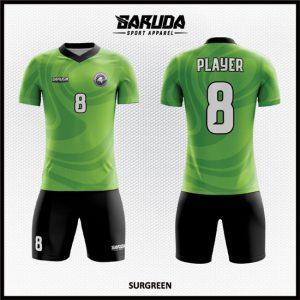 Desain Kostum Sepabkbola Printing Code Surgreen Tampil Cool dan Kharismatik
