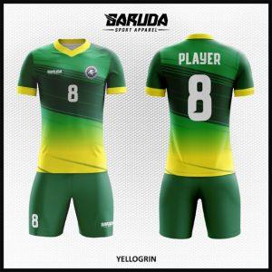Desain Seragam Bola Futsal Printing Code Yellogrin Gradasi Kuning Hijau
