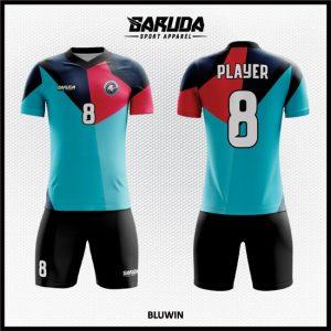 Desain Kaos Bola Futsal Full Print Code Bluwin Dengan Kombinasi Warna