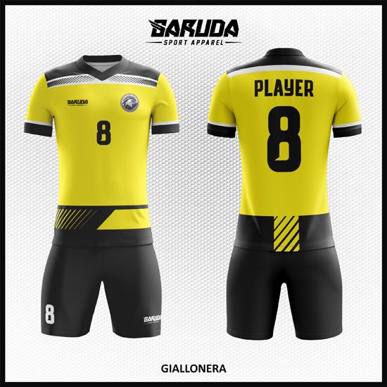 Si Kuning Desain Baju Bola Futsal Printing Code Giallonera