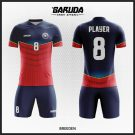 Desain Kaos Futsal Full Print Code Breeden Dongker Merah Yang Simple