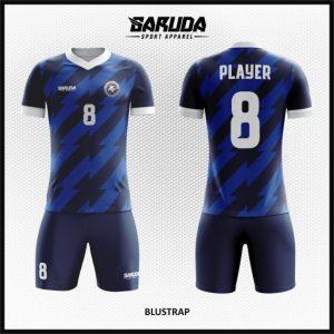 Desain Baju Sepakbola Printing Code Blustrap Warna Biru Dongker