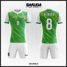 Desain Kaos Bola Futsal Full Print Code Grumbuz Hijau Putih