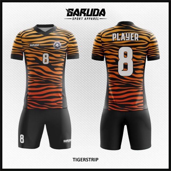 Desain Seragam Sepakbola Printing Tigerstrip Motif Belang Macan