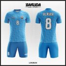 Desain Seragam Bola Futsal Printing Motif Garis Zigzag Diagonal Code Lowbun