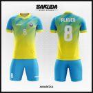 Desain Baju Bola Futsal Printing Code Amarezul Gradasi Biru Kuning