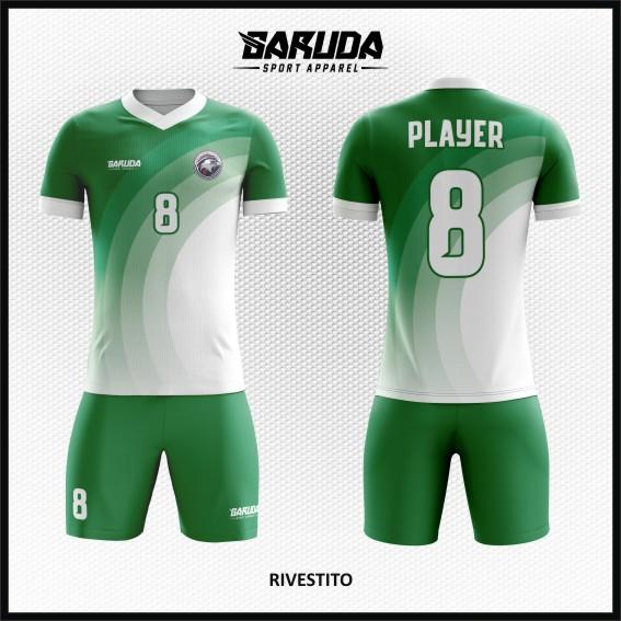 Desain Baju Bola Warna Hijau keren printing