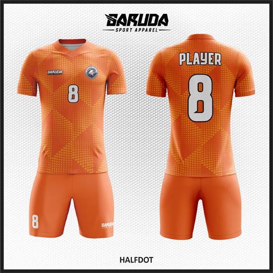 Desain Kaos Bola Futsal 91 – Orange Carving