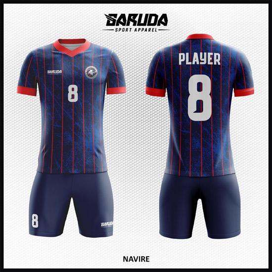 Printing Kaos Futsal Warna Biru Dongker Yang Memukau