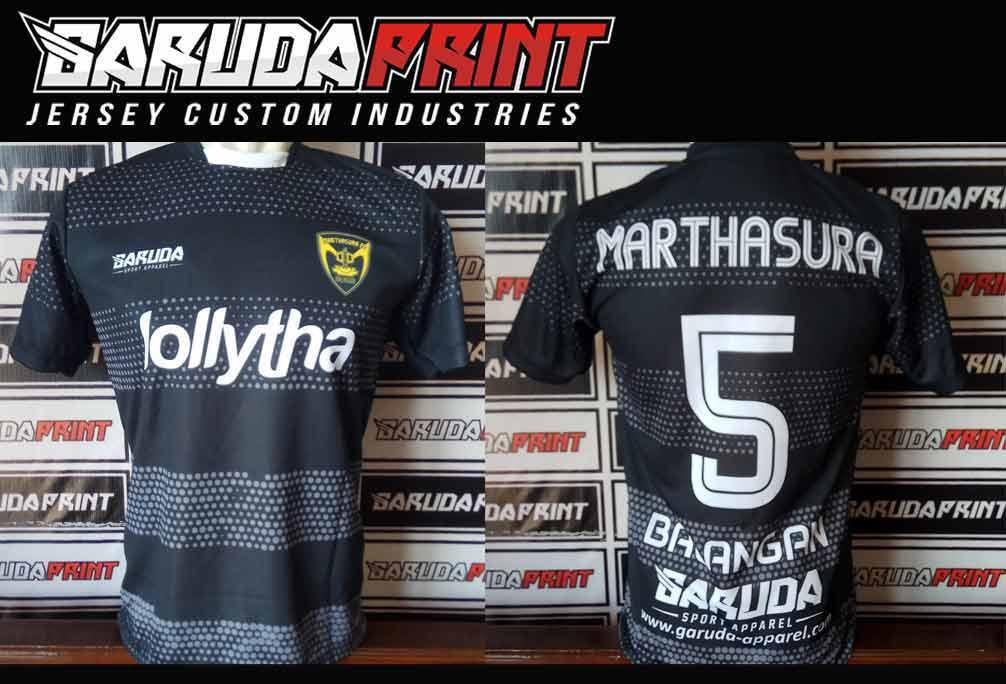 Printing Kaos Futsal Warna Hitam keren