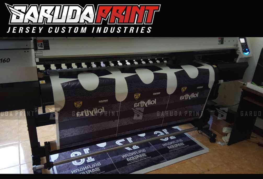 Printing Kaos Futsal Warna Hitam