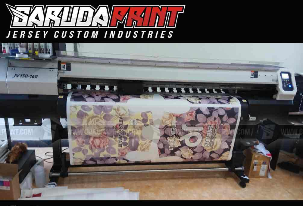 bikin kaos bola futsal printing gambar kembang