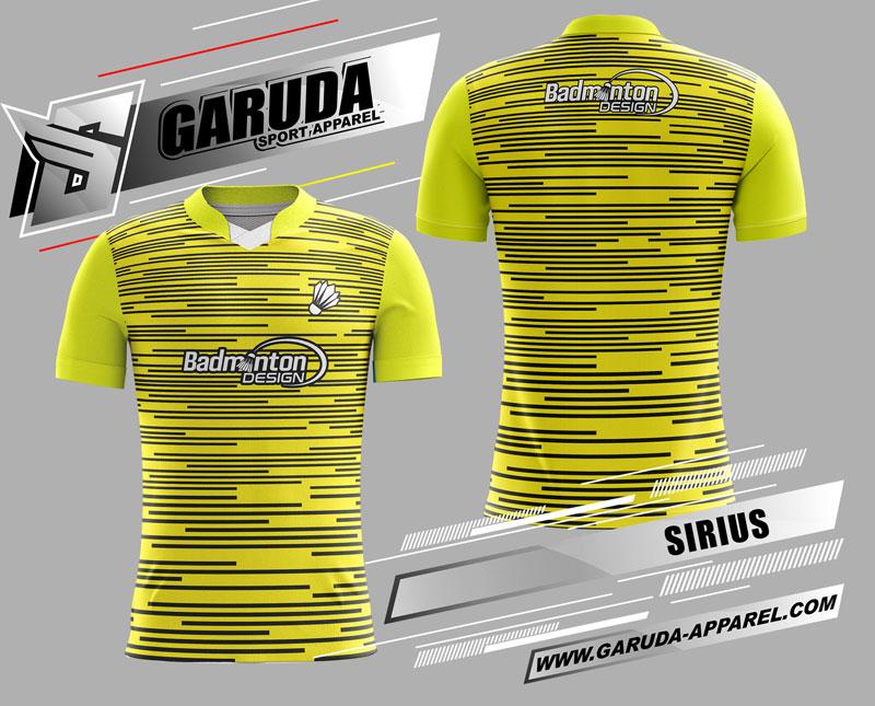 desain kaos badminton printing warna kuning