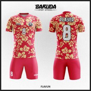 Desain Baju Sepakbola Code Flavun Motif Bunga Paling Unik