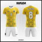 Desain Jersey Sepakbola Futsal Code Gembox Kuning Yang Dinamis