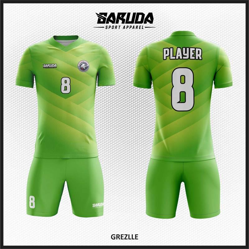 Desain Kostum Futsal Code Grezlle Hijau Bikin Kamu Tampil Oke