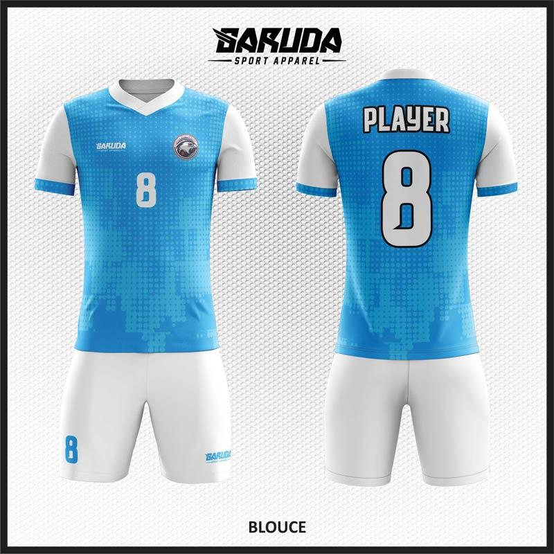 Desain Baju Futsal Code Blouce Biru dengan Tampilan Maskulin dan Menawan
