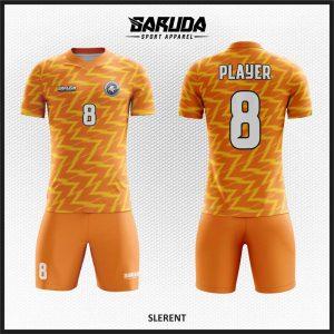 Desain Kaos Bola Futsal Code Sleret, Warna Orange Untuk Kepercayaan Diri Setiap Tim