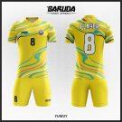 Desain Baju Futsal Code Yumuy, Tampil Fresh Dengan Warna Kuning
