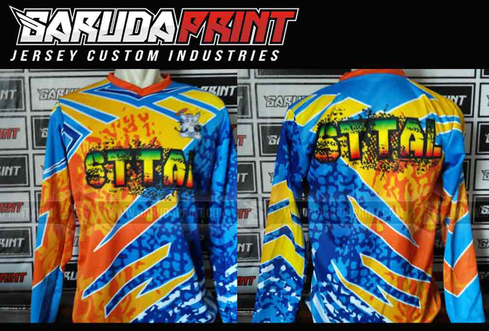 Jersey Sepeda MTB Desain Custom full printing
