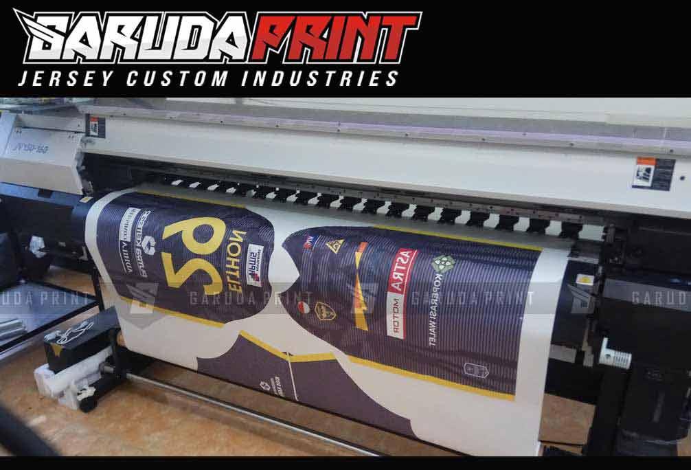 bikin baju futsal desain berkerah printing