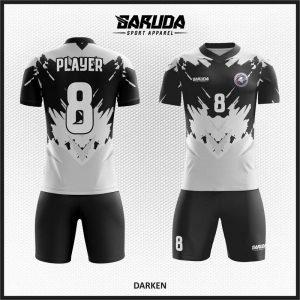 Desain Kaos Sepakbola Code Darken Abu Hitam Berkualitas Dan Menawan