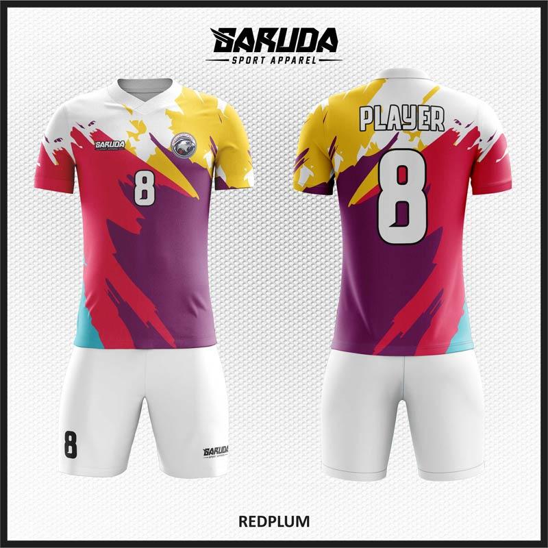 Desain Seragam Sepakbola Code Redplum Pilihan Warna Terbaik.
