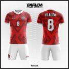 Desain Kaos Futsal  Code Rengle Merah Putih