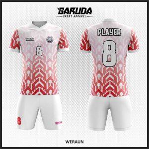 Desain Kaos Sepak Bola Code Weraun, Perpaduan Merah Putih yang Balance