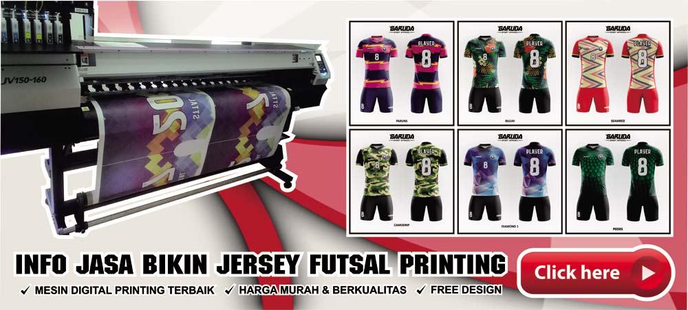 bikin jersey futsal printing