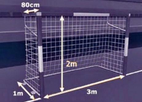 Ukuran Gawang Futsal Berserta Gambar dan Penjelasannya