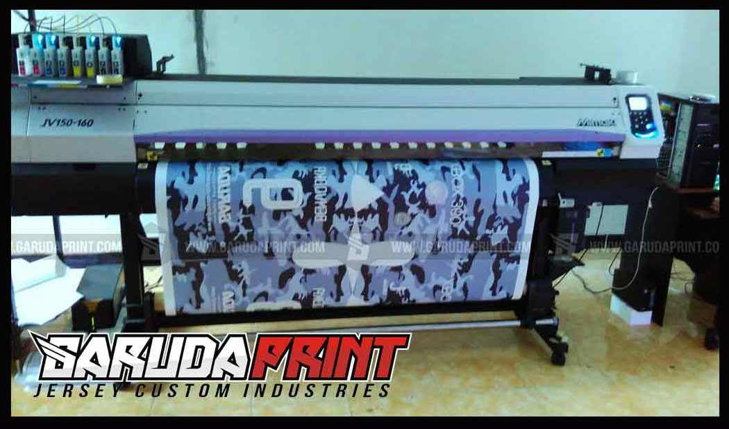 pembuatan kaos futsal army loreng printing