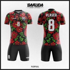 Desain Baju Sepakbola Code Flofull Gambar Kembang