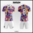 Desain Jersey Bola Futsal Code Flowla Penuh Warna