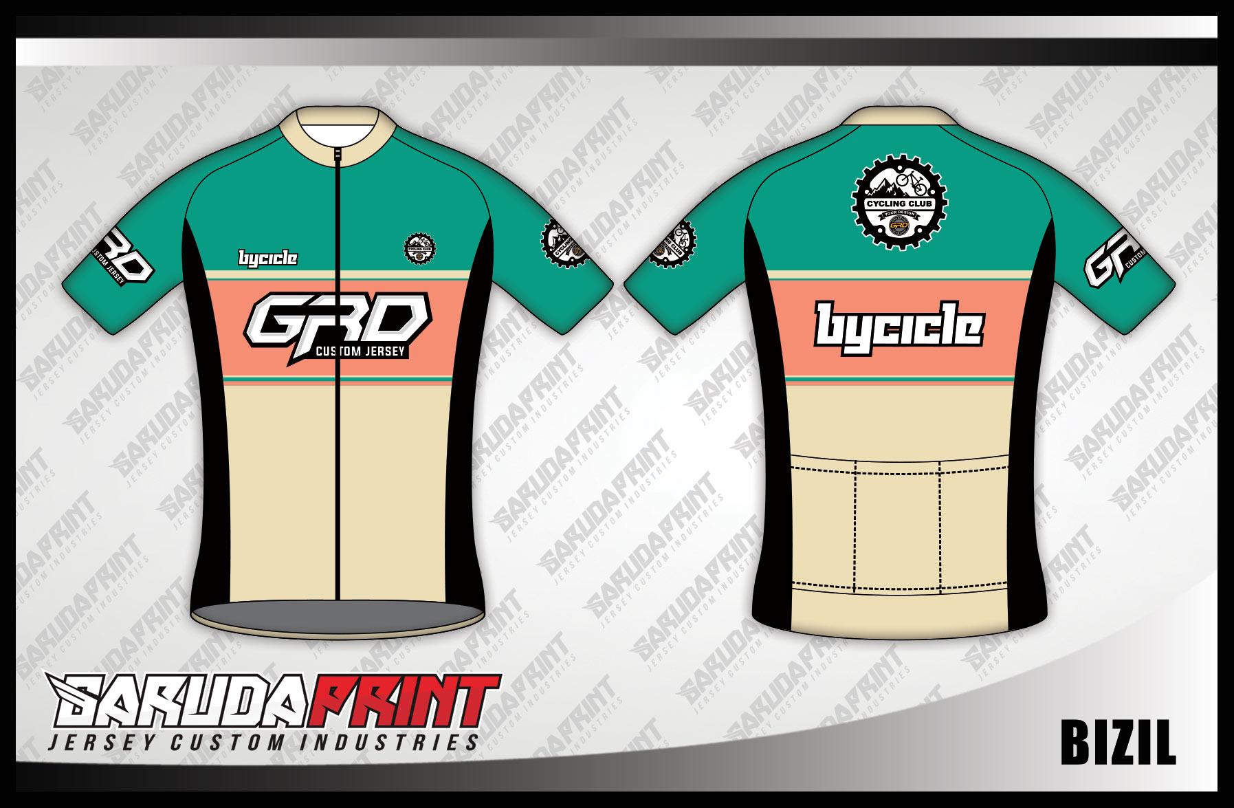 Buat Jersey Sepeda Gowes Road Bike Full Printing Yang Keren