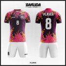 Desain Jersey Futsal Code Flopin Bunga Ungu