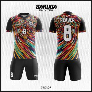 Desain Kaos Futsal Code Circlor Konsep Banyak Warna Dan Unik