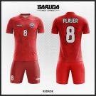 Desain Kostum Sepakbola Code Redrok Warna Merah Selera Pemberani