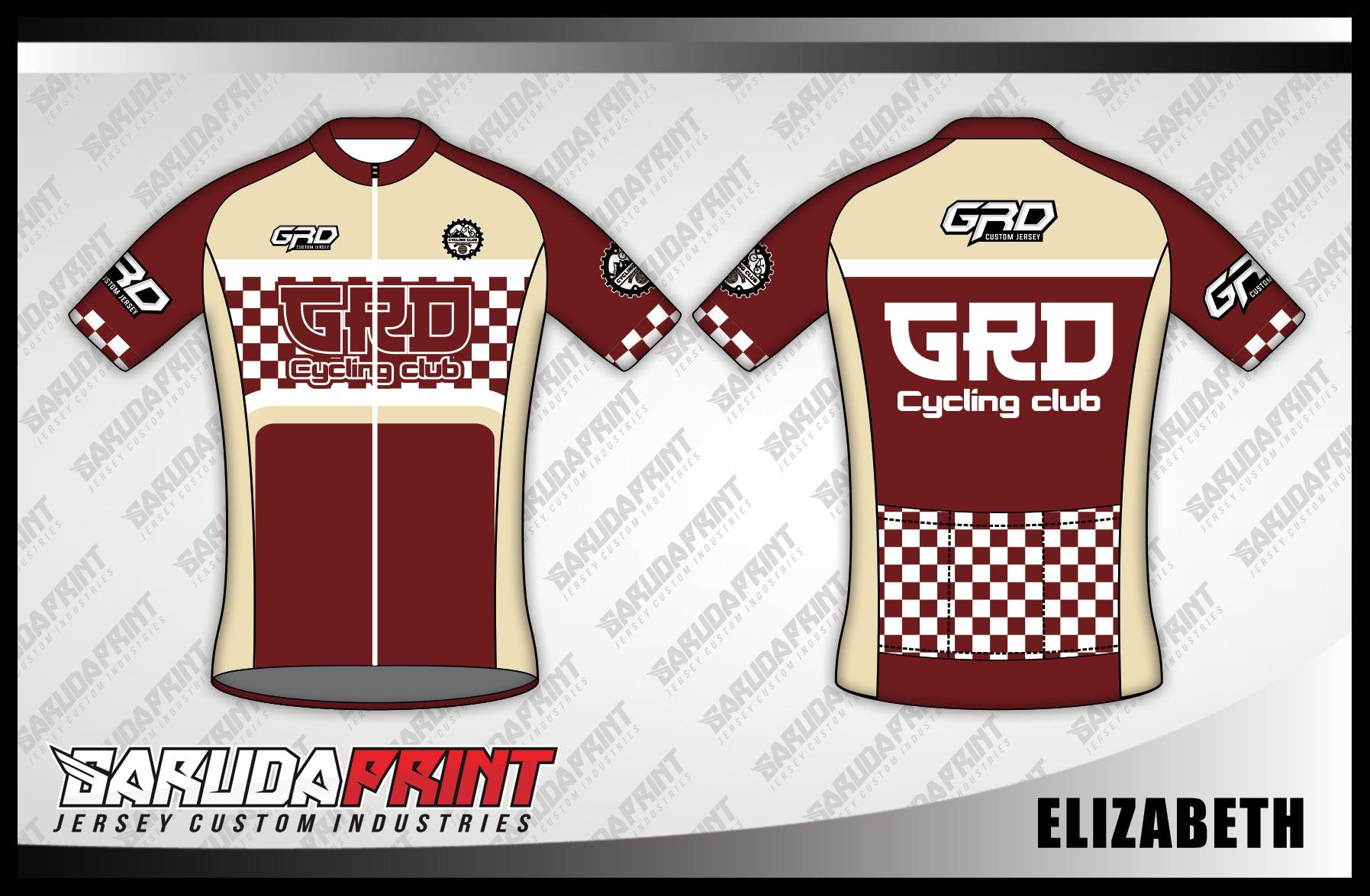Buat Jersey Sepeda Gowes Full Print Warna Coklat Dinamis