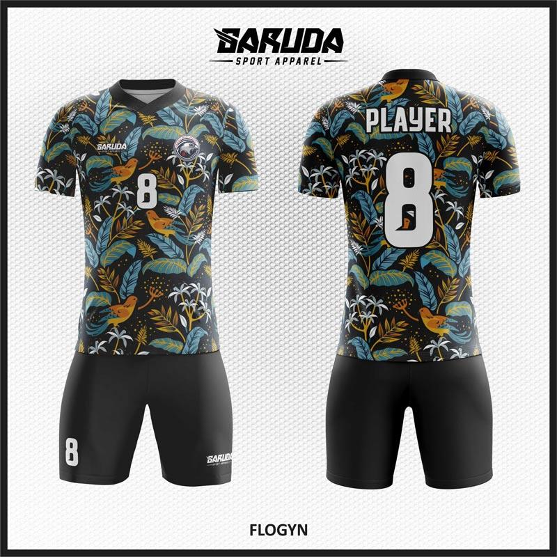 Desain Jersey Sepakbola Code Flogyn Warna Hitam Yang Unik